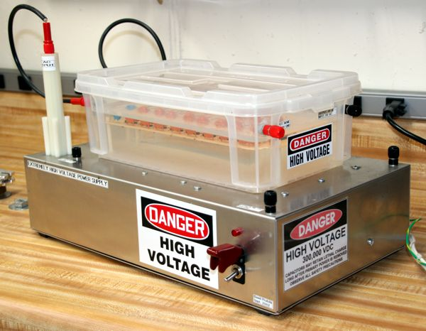 diy 300 kVDC high voltage power supply by David Prutchi PhD www.diyPhysics.com