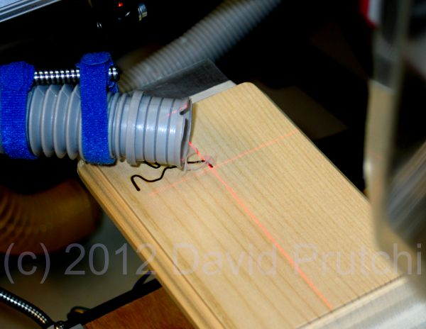 diode laser crosshair projector for diy CO2 laser cutter/engraver for X2 CNC mini mill mod by David Prutchi Ph.D.