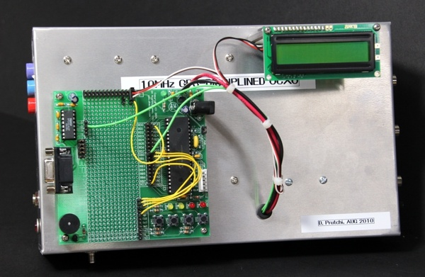 diy GPS-disciplined 10 Mhz frequency standard and atomic universal time clock by David Prutchi PhD