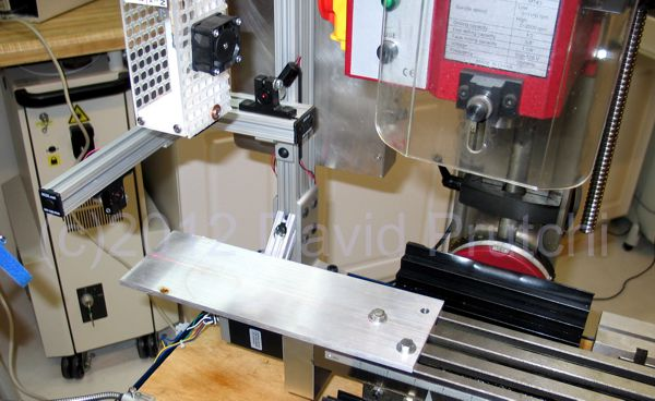 Mounting platform for diy CO2 laser cutter/engraver for X2 CNC mini mill mod by David Prutchi Ph.D.