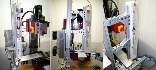 diy CO2 laser cutter/engaver head for CNC X2 mini mill mod by David Prutchi Ph.D.