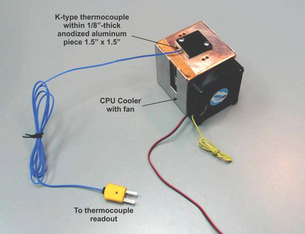 diy CO2 laser power meter by David Prutchi, Ph.D.