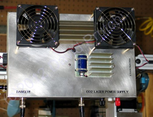 RF exciter power supply for diy CO2 laser marking head by David Prutchi Ph.D.