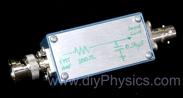 Low pass filter to use commercial pulse processor with PRA David Prutchi PhD www.prutchi.com