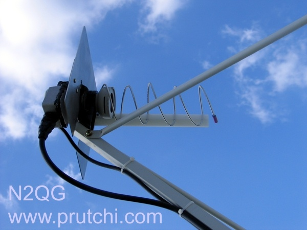 Helical feed for L-Band dish for amateur space communications. N2QG David Prutchi PhD www.prutchi.com www.diyPhysics.com