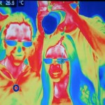 Thermal IR image of Hannah, Abigail and David Prutchi at the US Science & Engineering Festival Washington DC April 2012