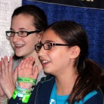 Hannah and Abigail Prutchi at the US Science & Engineering Festival, Washington DC, April 2012