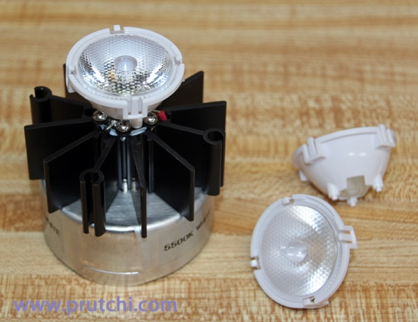 Optional LED reflector for diy high-power UVIR / Visible flashlight by David Prutchi PhD www.prutchi.com  www.diyPhysics.com