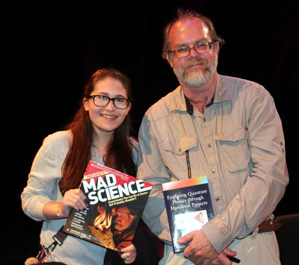 Shanni Prutchi with fellow diy SCience author Theodore (Theo) Gray