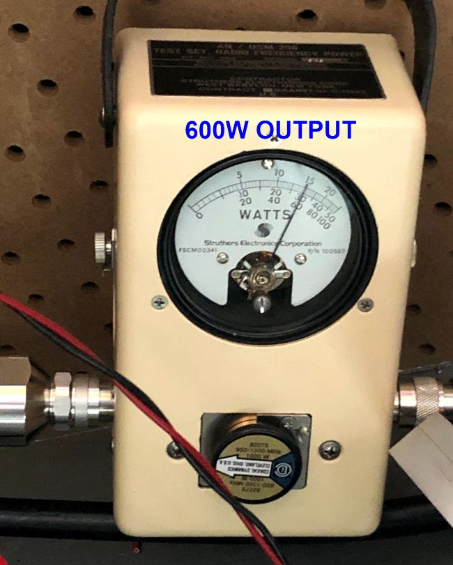 N2QG's 600W output at 1296MHz