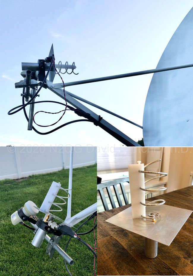 DSN S-Band Helical Feed for 1.2m F/d=0.6 Offset Dish - Prutchi.com